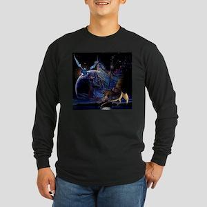 Wizzard & Dragon Long Sleeve Dark T-Shirt