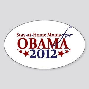 Moms for Obama 2012 Sticker (Oval)