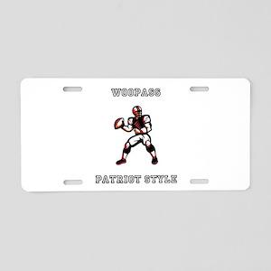 Super Bowl Aluminum License Plate