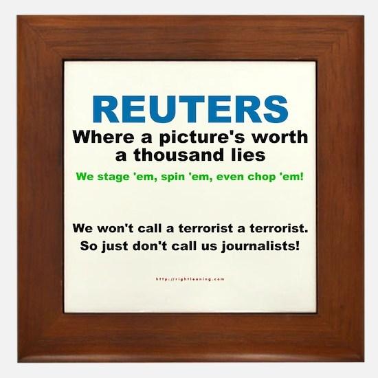 Anti- Reuters Framed Tile