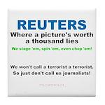 Anti- Reuters Tile Coaster