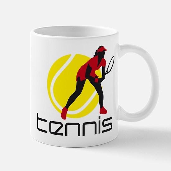 female tennis player Mug