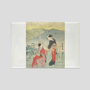 Gathering tea leaves - Harunobu Suzuki - 1770 Magn