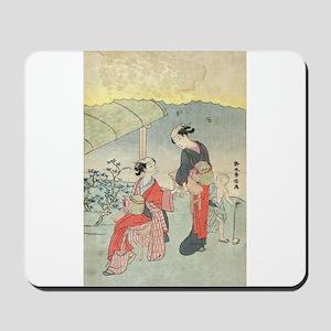 Gathering tea leaves - Harunobu Suzuki - 1770 Mous