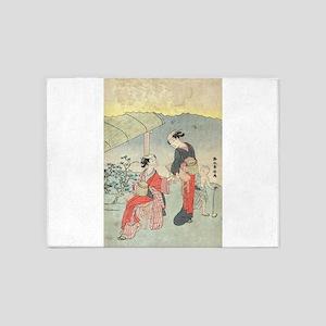 Gathering tea leaves - Harunobu Suzuki - 1770 5'x7