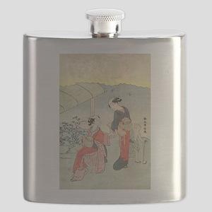 Gathering tea leaves - Harunobu Suzuki - 1770 Flas