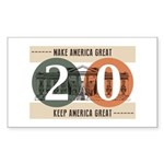 Vote Trump 2020 Sticker (Rectangle 50 pk)