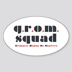 "Oval ""grom squad"" Sticker"