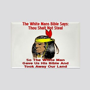 White Bible Say Not Steal Rectangle Magnet