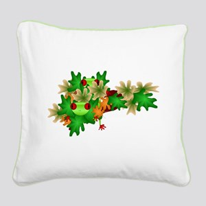 Tree Frog Square Canvas Pillow