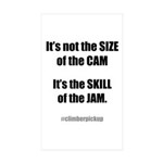 sizeofthecamV2 Sticker (Rectangle 10 pk)