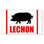 lechon Sticker (Rectangle 10 pk)
