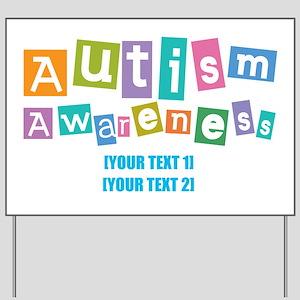 Personalize Autism Awareness Yard Sign