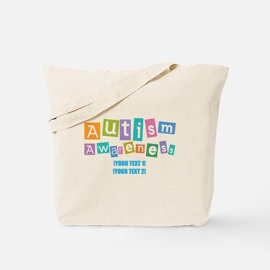 Personalize Autism Awareness Tote Bag