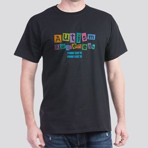 Personalize Autism Awareness Dark T-Shirt