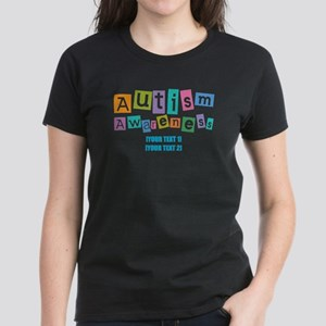 Personalize Autism Awareness Women's Dark T-Shirt