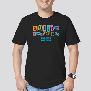 Personalize Autism Awareness Men's Fitted T-Shirt