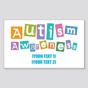 Personalize Autism Awareness Sticker (Rectangle)