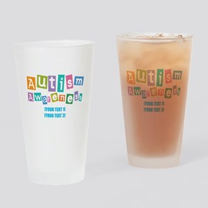 Personalize Autism Awareness Drinking Glass