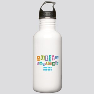 Personalize Autism Awareness Stainless Water Bottl