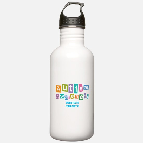Personalize Autism Awareness Water Bottle
