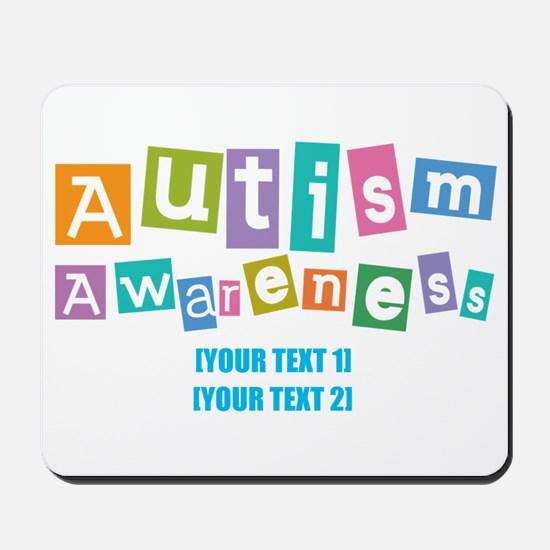 Personalize Autism Awareness Mousepad