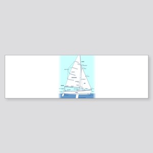 SAILBOAT DIAGRAM (technical design) Sticker (Bumpe