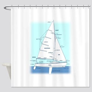SAILBOAT DIAGRAM Technical Design Shower Curtain