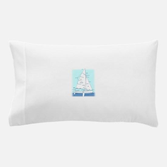 SAILBOAT DIAGRAM (technical design) Pillow Case