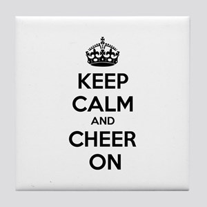 Keep calm and cheer on Tile Coaster