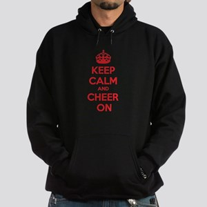 Keep calm and cheer on Hoodie (dark)