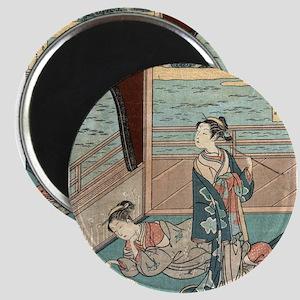 Jakuren Hoshi - Harunobu Suzuki - 1760 Magnets