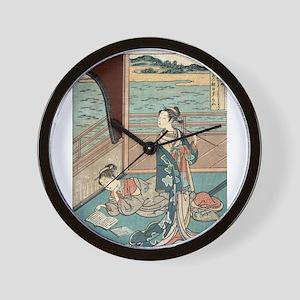 Jakuren Hoshi - Harunobu Suzuki - 1760 Wall Clock