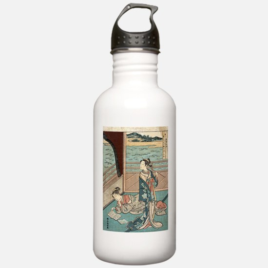 Jakuren Hoshi - Harunobu Suzuki - 1760 Water Bottl