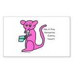 kangaroo Sticker (Rectangle 10 pk)