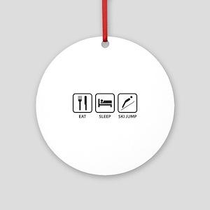 Eat Sleep Ski Jump Ornament (Round)