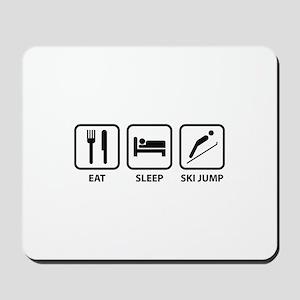 Eat Sleep Ski Jump Mousepad