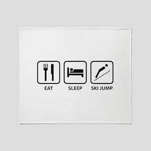 Eat Sleep Ski Jump Throw Blanket