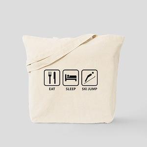 Eat Sleep Ski Jump Tote Bag