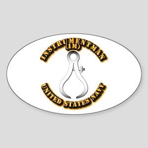 Navy - Rate - IM Sticker (Oval)