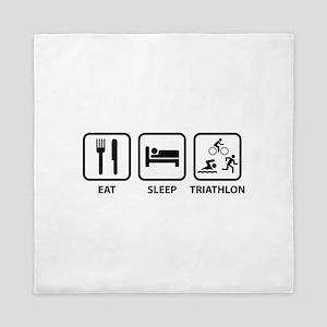 Eat Sleep Triathlon Queen Duvet