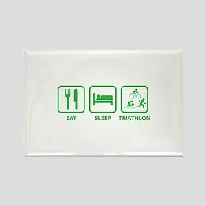 Eat Sleep Triathlon Rectangle Magnet