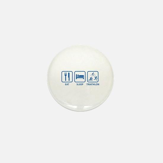 Eat Sleep Triathlon Mini Button