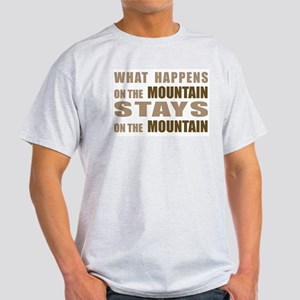 What Happens On The Mountain. Ash Grey T-Shirt