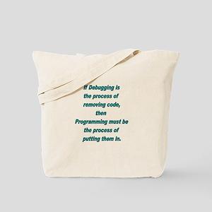 Debugging and Programming Tote Bag