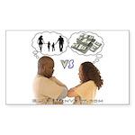vs Sticker (Rectangle 50 pk)