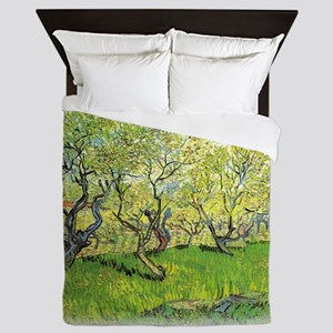 Orchard in Blossom Queen Duvet