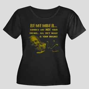 Zombies are Not Your Friends Women's Plus Size Sco