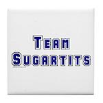 Team Sugartits Tile Coaster