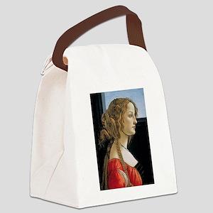 Portrait of Simonetta Vespucci Canvas Lunch Bag